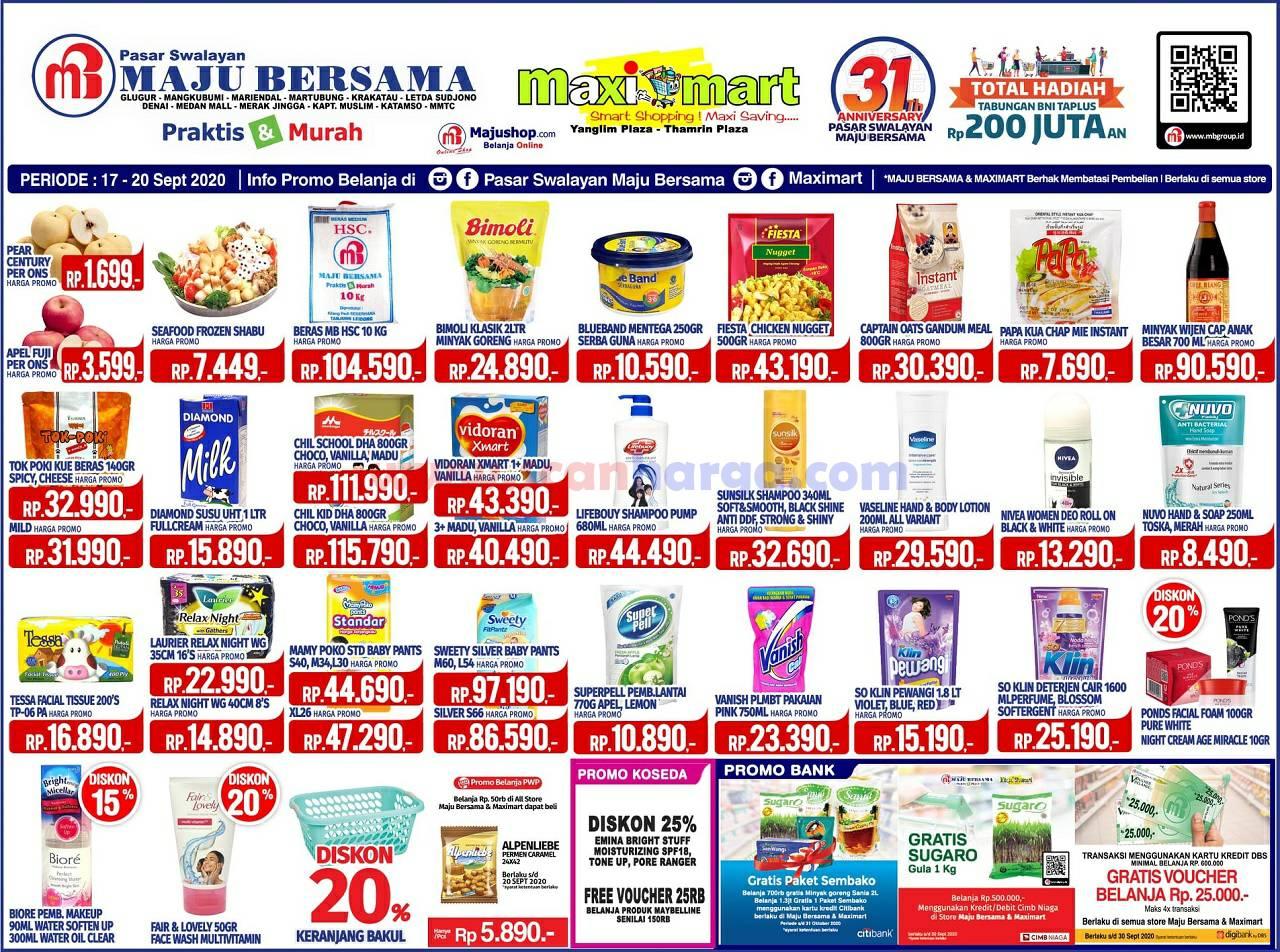 Katalog Promo Maximart Pasar Swalayan 17 - 20 September 2020