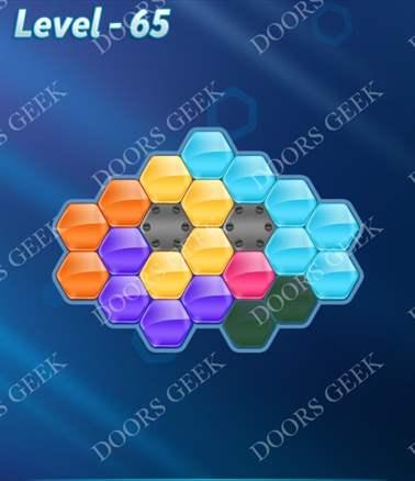 Block! Hexa Puzzle [Intermediate] Level 65 Solution, Cheats, Walkthrough for android, iphone, ipad, ipod