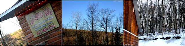 Vue de l'extérieur et paysage de la cabane JaRo.