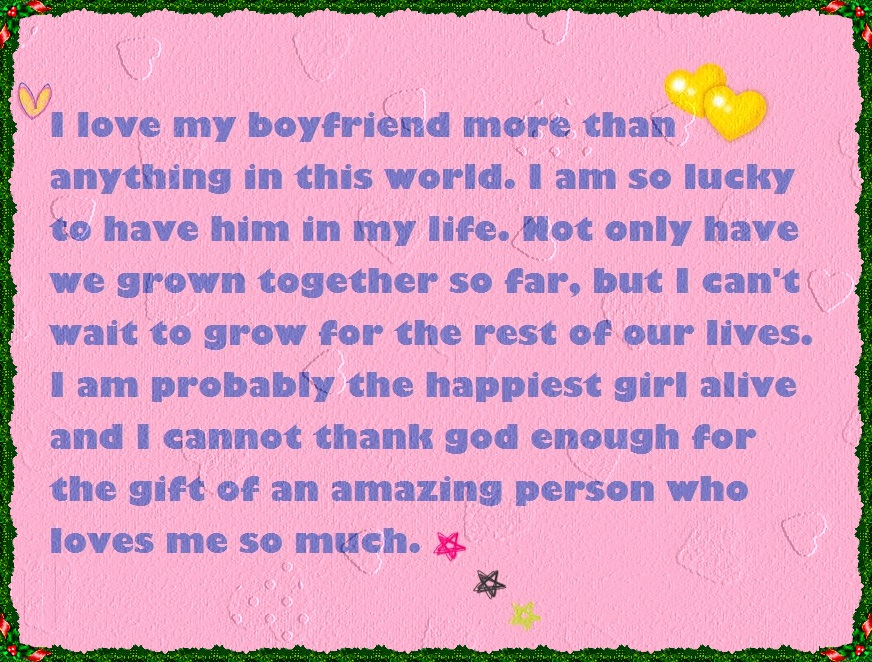 Cute Thank You Quotes for Boyfriend from Heart - boyfriend thank you letter sample