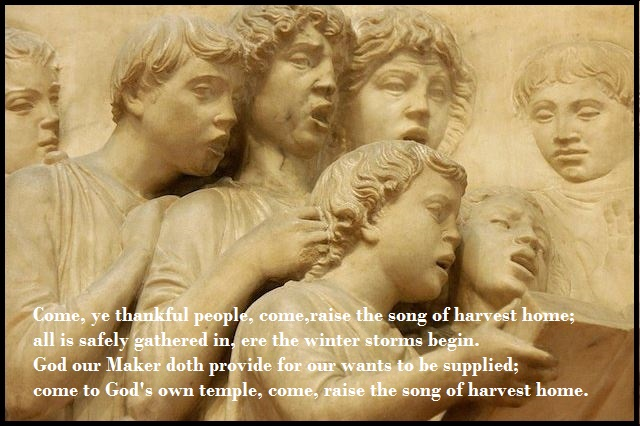 Come, Ye Thankful People, Come is one of the great and traditional hymns of thanksgiving to the almighty God that is popularly sing during the Christian Harvest Festival