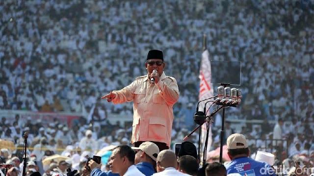 Bikin Rilis Pers, Prabowo Klaim Menang dengan Kantongi 71 Juta Suara