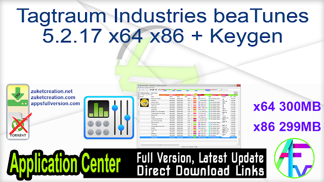 Tagtraum Industries beaTunes 5.2.17 x64 x86 + Keygen