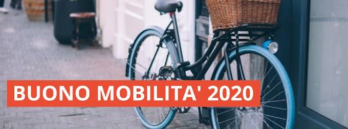 Dal 3 novembre attivo il sito per il Buono Mobilità