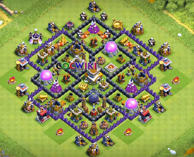 coc town hall 8 base with double cannon