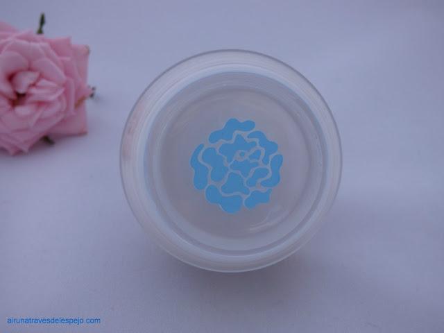 icono flor rosa roca azul sensible crema