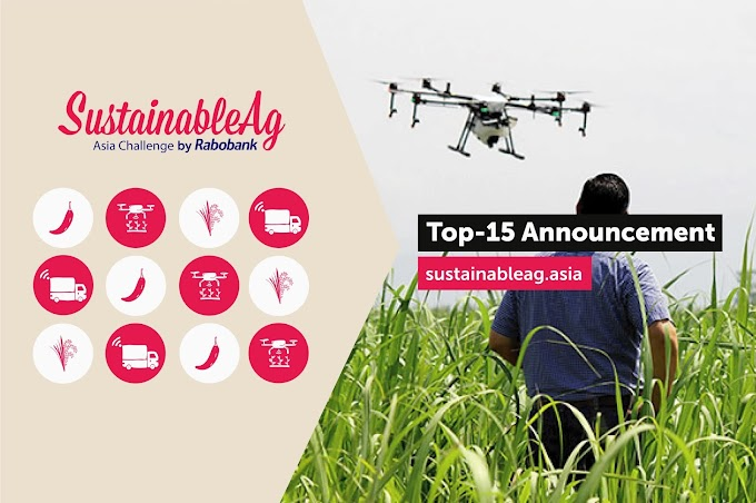 Rabobank Reveals Top 15 Agri-tech Startups For SustainableAg Asia Challenge