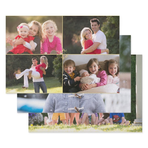 DIY Create Custom Wedding Birthday Christmas Photo Wrapping Paper Sheets