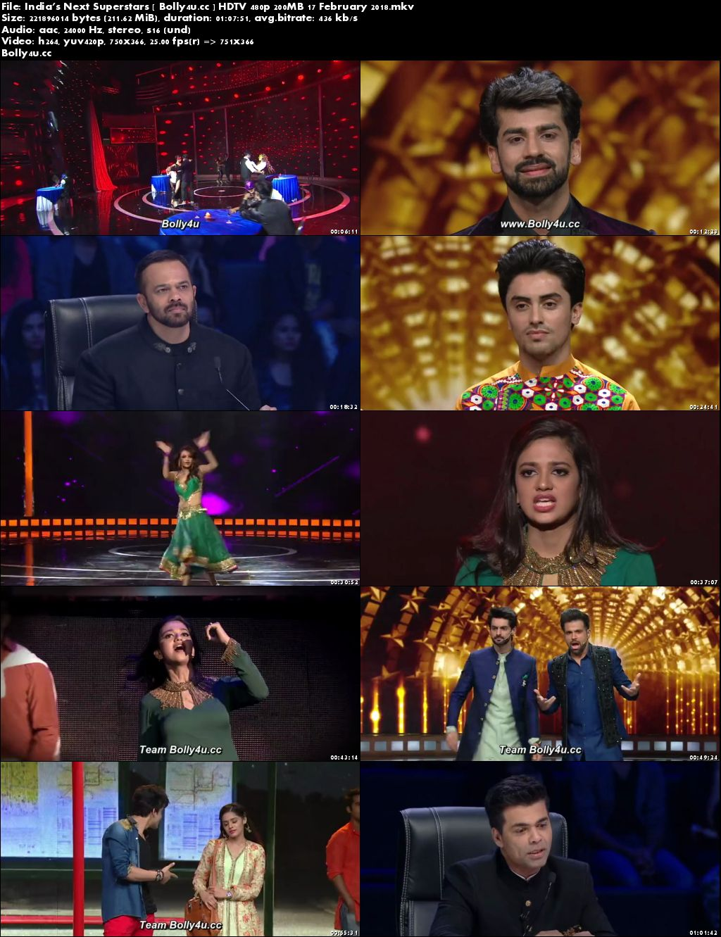 Indias Next Superstars HDTV 480p 200MB 17 February 2018 Download