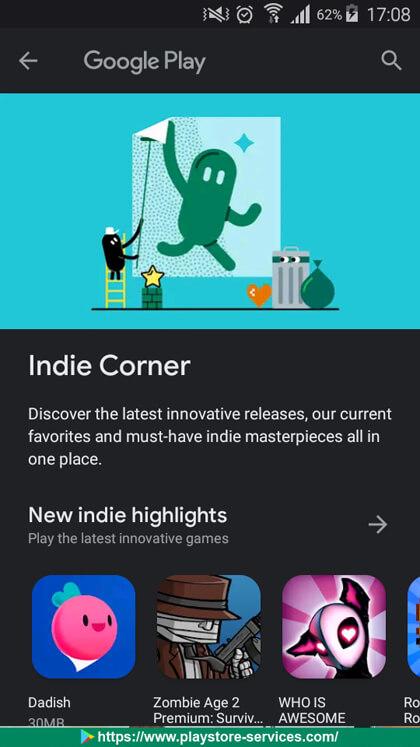 "تحقق من تطبيقات ""إيندي كورنر - Indie Corner"""