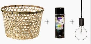 Çamaşır Sepetinden Avize Modeli, Yapımı, Resimli Açıklamalı 1