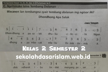 Nyritakake Isine Tembang Dolanan Dhondong Opo Salak - Materi Pelajaran Bahasa Jawa Kelas 2 Semester 2