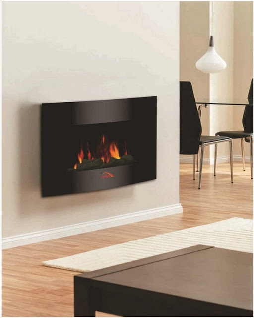 best electric wall fireplace