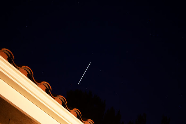ISS goes out of view in the northeast, DSLR, 55mm, 10 seconds (Source: Palmia Observatory)