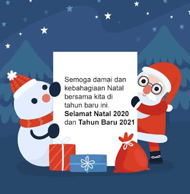 kartu ucapan natal 2020