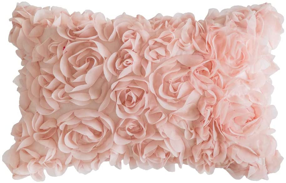 Blush rose petal pillow