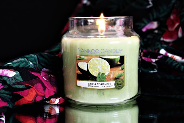 yankee candle lime coriander avis, lime and coriander, yankee candle coriandre citron vert, bougie parfumée, bougie yankee, yankee candles, candle review, scented candle, avis yankee candle