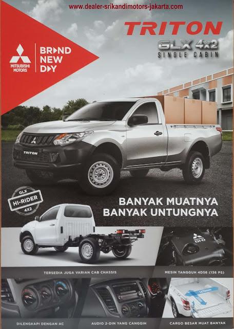 paket kredit dp kecil new strada triton - pick up - chassis cabin - 2019