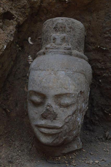 Bodhisattva statue unearthed in Cambodia