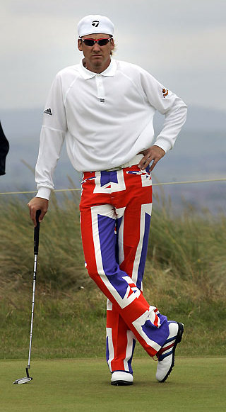 Golfer Ian Poulter Continues To Turn Heads With Unique Style