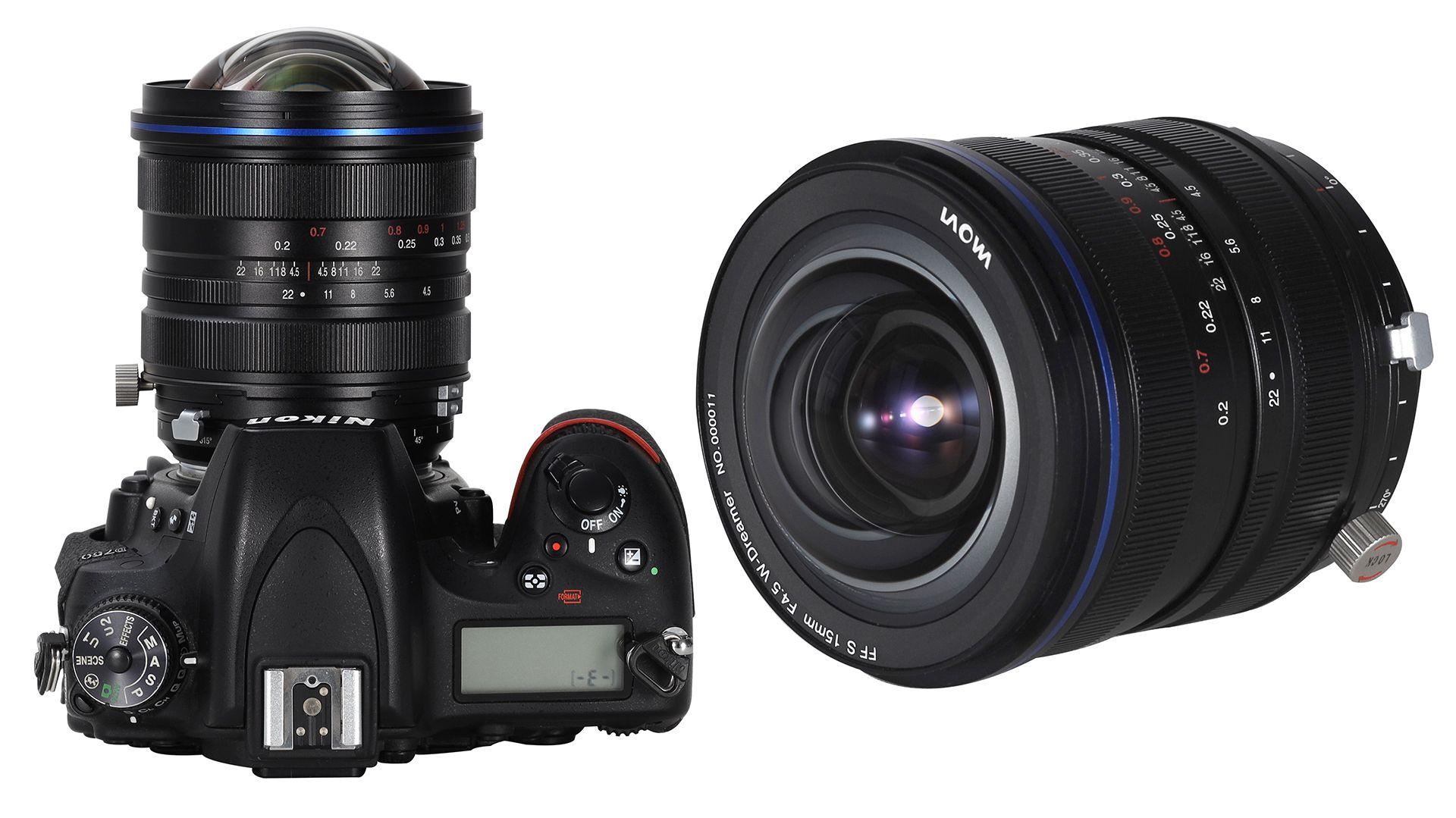 Объектив Laowa 15mm f/4.5 Zero-D Shift с камерой