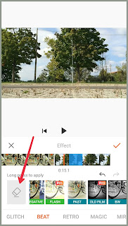 Video effects in YouCut