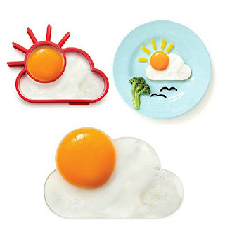 An egg mold in the shape of a sun and cloud
