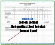 Contoh Format Rekonsiliasi Aset Sekolah Format Excel