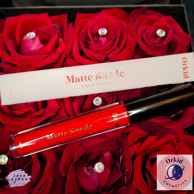 orkid cosmetics - matte-suede lipstick , handsanitiser review