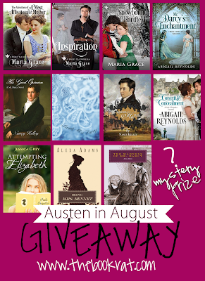 Austen in August, Jane Austen, Jane Austen retellings, JAFF, Austenesque, Austen authors, giveaway, book giveaway, The Book Rat