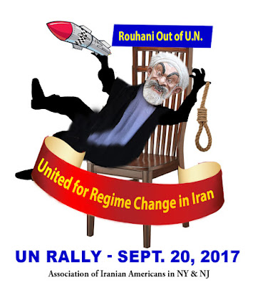 Iranian opposition:Call For Justice. Join us at #No2Rouhani Rally in NY (47&2) on Sept 20 at 10:30