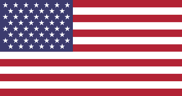 Flag of the United States with two new stars added (total of 52 stars) for the hypothetical new states of Puerto Rico and DC (District of Columbia/Washington, DC)