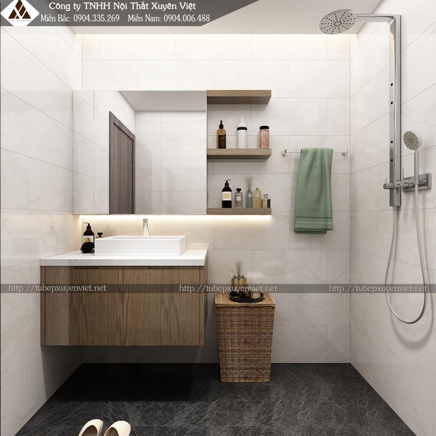 Bộ tủ chậu lavabo phòng thứ nhất được đặt phòng master