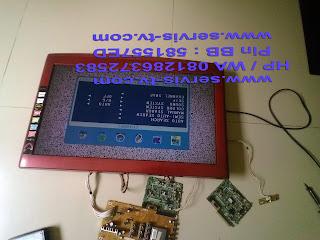 Perbaikan Sanyo LCD 24K40 Lampu Kuning