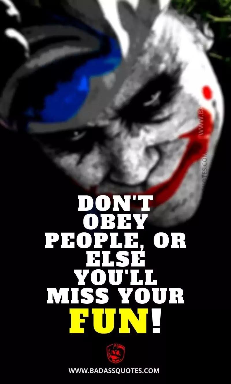 Joker Quotes on Success