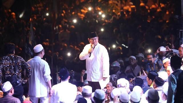 Sebelum Pencoblosan, Prabowo Siap Jemput Habib Rizieq