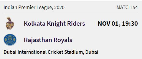 Kolkata Knight Riders match 14 ipl 2020