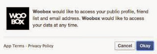 Woobox Facebook permission