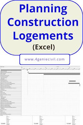 Exemple De Modele Planning De Construction Logements Excel Cours Genie Civil Outils Livres Exercices Et Videos