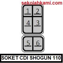 soket cdi suzuki shogun 110