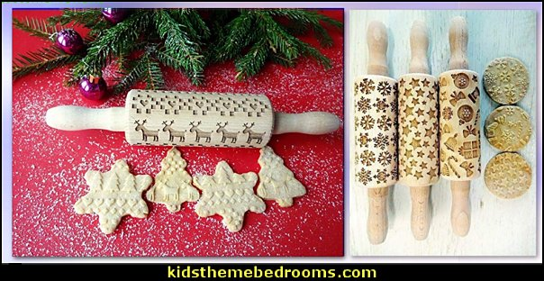 KIDS CHRISTMAS Rolling pin SET  christmas kitchen decorations - Christmas table ware - Christmas mugs  - Christmas table decorations - Christmas glass ware - Holiday decor - Christmas dining - christmas entertaining - Christmas Tablecloth - decorating for Christmas - Santa mugs - Christmas Cookie Cutters  - snowman and reindeer kitchen  accessories - red cardinal kitchen decor - seasonal dinnerware - Christmas cookie moulds - Christmas chocolate moulds - Cookie Baking supplies