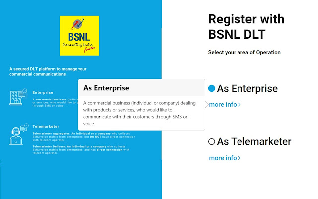 BSNL waives off Registration Chargers of Rs 300/- + GST for principal entities in Bulk SMS DLT Portal