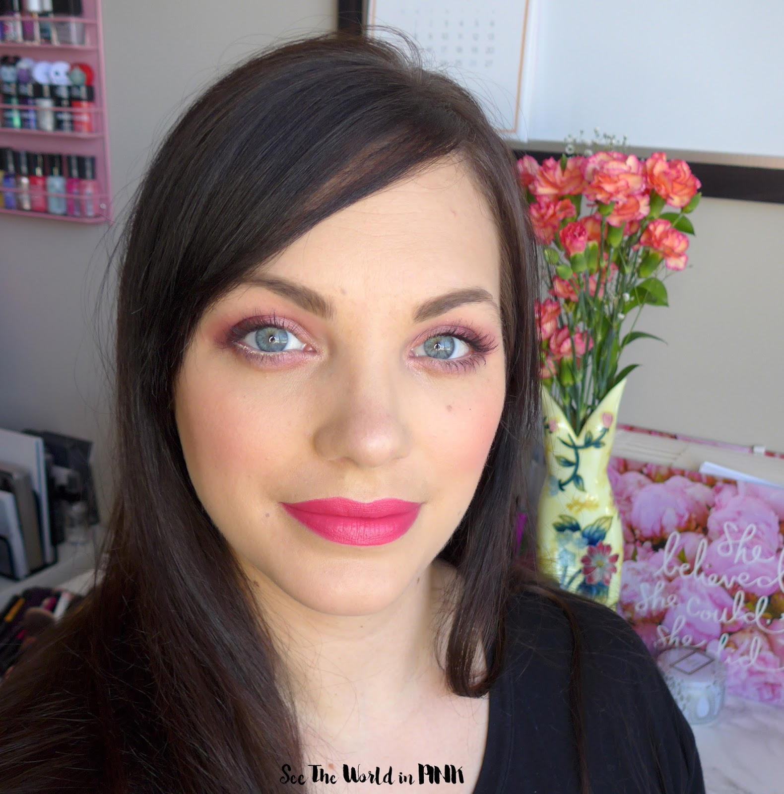 "Charlotte Tibury ""Hot Lips"" Lipstick in Electric Poppy - Bright Pink Lips for Spring!"
