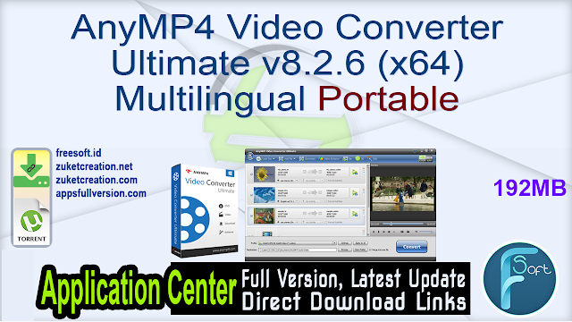 AnyMP4 Video Converter Ultimate v8.2.6 (x64) Multilingual Portable