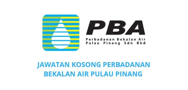 Jawatan Kosong Perbadanan Bekalan Air Pulau Pinang 2021