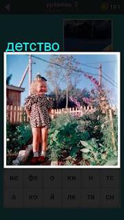 девочка в детстве стоит в огороде 667 слов 3 уровень