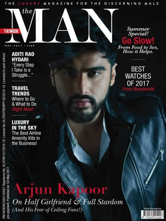 Arjun Kapoor On The Cover of The MAN Magazine May 2017