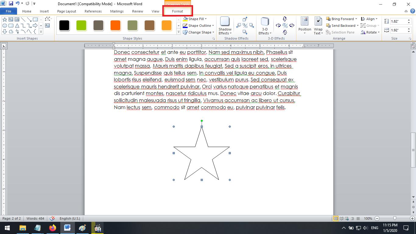 Bentuk Bintang