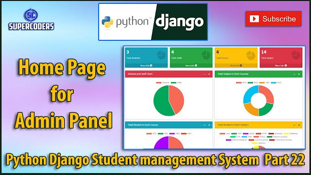 Python Django Student Management System Part 22 | Homepage for Admin (HOD) Panel