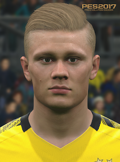 PES 2017 Faces Erling Haaland by Love01010100